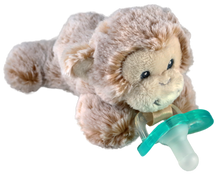 Razbaby RaZbuddy Paci Holder - JollyPop Pacifier - Marlow Monkey