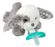 Razbaby RaZbuddy Paci Holder - JollyPop Pacifier - Palmer Puppy