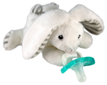 Razbaby RaZbuddy Paci Holder - JollyPop Pacifier - Coco Bunny