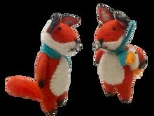 Papoose Felt Animals - Fox Pair with Scarf (2 pcs)