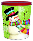 Scarf Snowman Tin - 3.5 Gallon