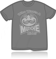 Who Wants A Mustache Ride Mens Retro Tee Shirt