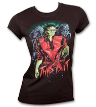 Michael Jackson Thriller Zombies Black Juniors Graphic Tee Shirt