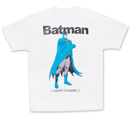 Batman Caped Crusader Vintage White Graphic TShirt