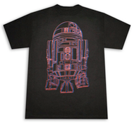Star Wars 3D R2D2 Black Graphic T-Shirt