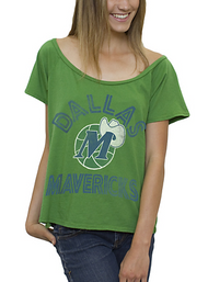 Junk Food NBA Dallas Mavericks Off The Shoulder Ladies T-Shirt