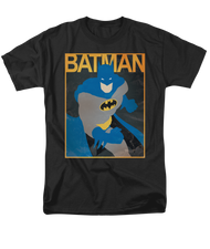 Mens Simple BM Batman Tee Shirt in Black