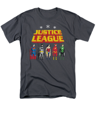 Mens Justice League Standing Below Tee Shirt
