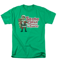 Mens Santa Claus is Coming To Town Logo Tee Shirt