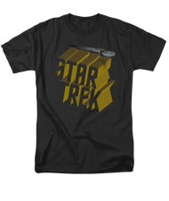 Mens Star Trek 3D Logo T Shirt