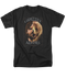 Mens Grizzly Adams Half Bear Tee Shirt