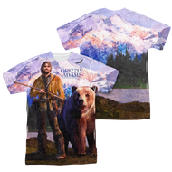 Mens Grizzly Adams Man and Bear Sublimation Tee Shirt