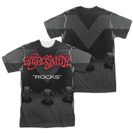 Mens Aerosmith Rocks Sublimation Tee Shirt