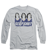 Mens Slap Shot Hanson Brothers Long Sleeve Tee Shirt