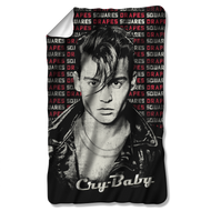 Cry Baby Drapes and Squares Fleece Blanket