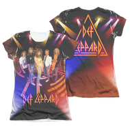 Def Leppard On Stage Juniors Sublimation Tee Shirt