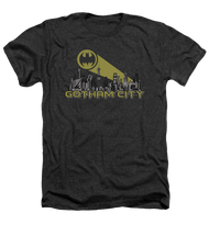 Batman Gotham City Vintage Heather Adult Tee Shirt