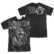 Mens Sons of Anarchy SAMCRO Reaper Sublimation Tee Shirt