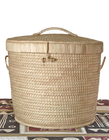 African Basket - Palm Leaf Laundry Basket
