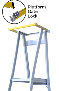 Safety Gate for Platform Ladders and Podiums