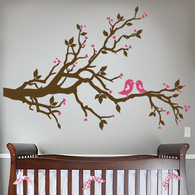 Love Birds Branch Wall Decal
