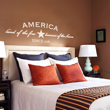 America wall decal, expression wall decals, written wall decals