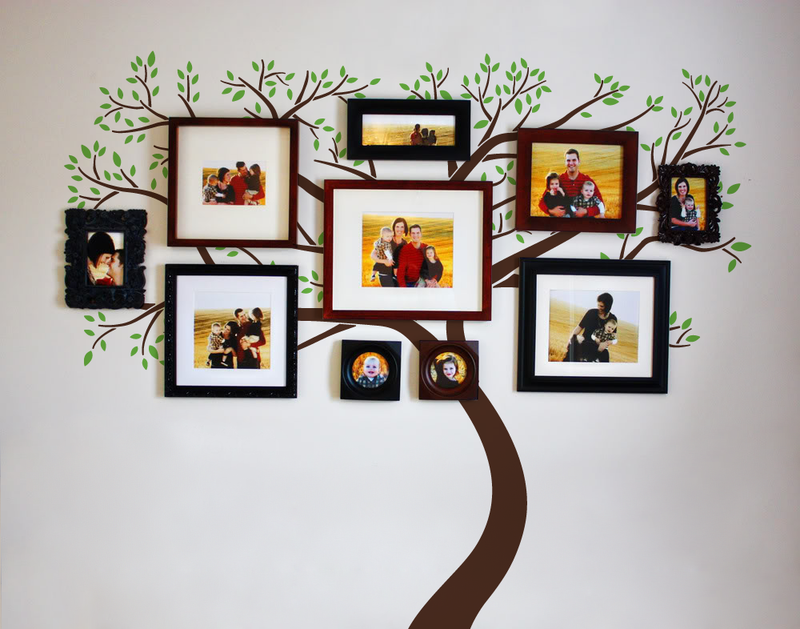 Photo Frame Family Tree Decal Wall Decals Wall Decor: Family Tree Wall Decal