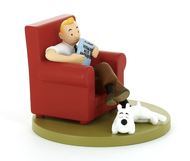 Tintin Figure Cube - At Home
