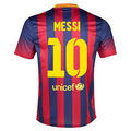 Messi Barcelona 2013 2014 Home Size Adult L Player Edition Jersey with TV3 Patch