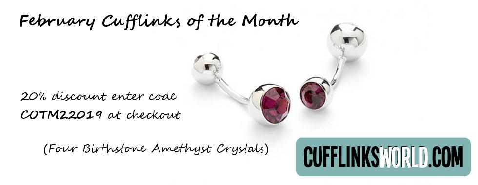 Get 205 off our February 2019 Amethyst Crystal Cufflinks