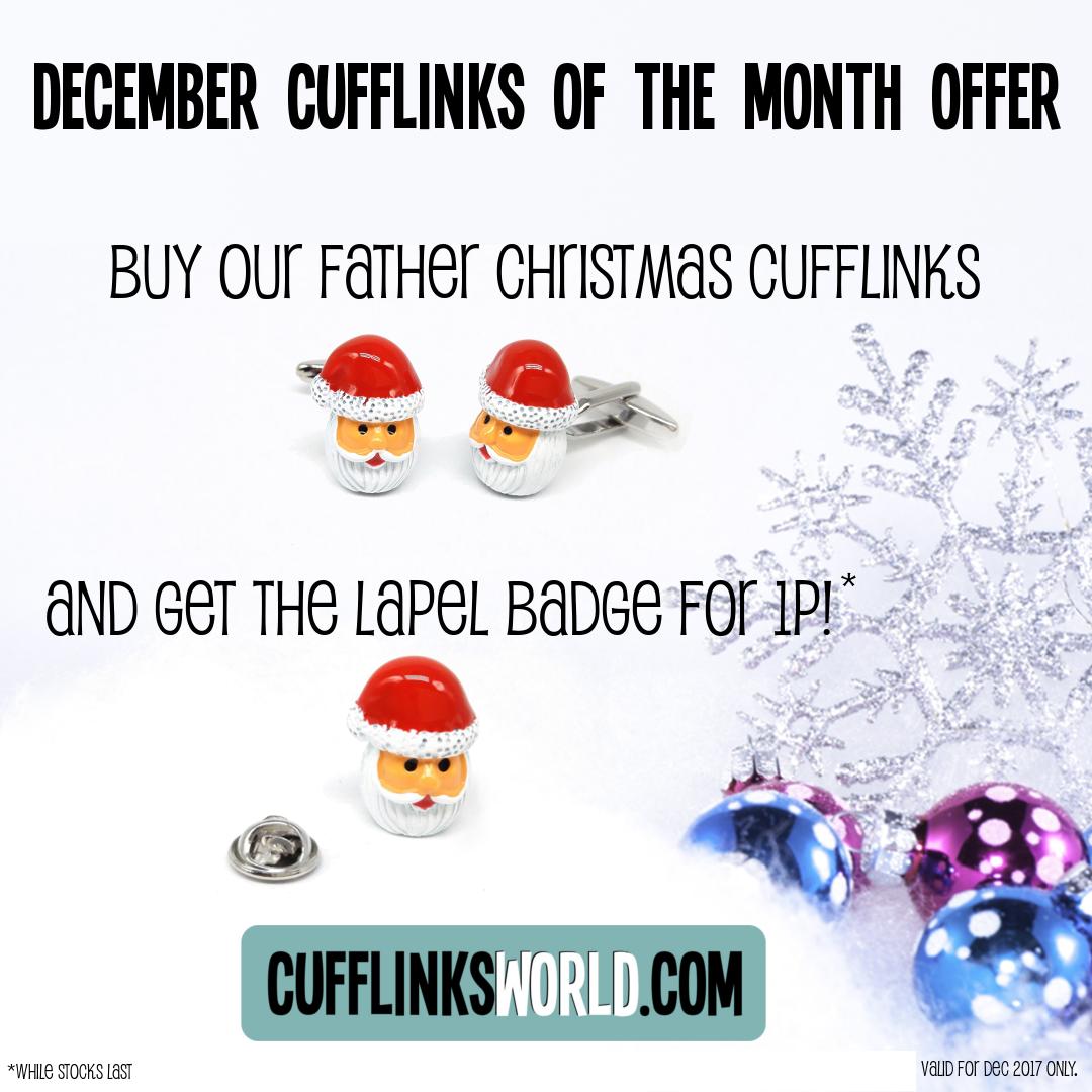 December Cufflinks of the Month