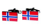 Norway flag cufflinks