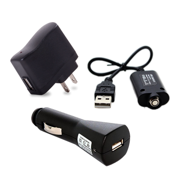 eCigarette Charge Anywhere Kit - Includes AC Adapter, USB Charger and Car Charger