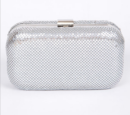 Boxxie Silver Formal Clutch Bag