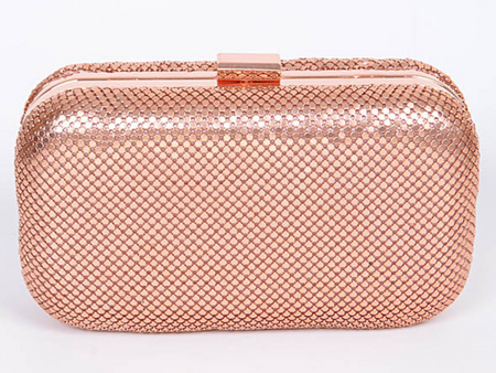 Boxxie Rose Gold Formal Clutch Bag