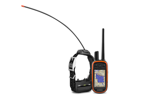 """MULTI-DOG TRACKING GPS AND REMOTE TRAINING DEVICE IN ONE  Tracks up to 20 dogs or buddies from up to 9 miles (TT 15) or 4 miles (TT 15 mini) away 18 training levels of continuous and momentary stimulation Tone and vibration alerts Preloaded TOPO U.S. 100k maps Measures dogs' speed and distance traveled Alpha  An invaluable tool in the field, the Alpha 100 helps you achieve optimum performance from your sporting dogs. It combines proven Garmin GPS dog tracking with Tri-Tronics® electronic dog training technology. This easy-to-use integrated handheld system allows you to track and train your dogs in the field at a range of up to 9 miles (TT 15) or 4 miles (TT 15 mini) away, delivering their exact position as often as every 2.5 seconds.  With multiple Alpha 100 handhelds and TT™ 15 or TT 15 mini dog devices, pinpoint up to 20 dogs or hunters' exact positions on a large, glove-friendly touchscreen display even when they are out of sight. Because Alpha 100 comes preloaded with TOPO U.S. 100K maps, you'll always know your surroundings.  Alpha  TRACK YOUR DOGS  Measure each dog's speed, distance and the direction being traveled. Plus, receive notifications when a dog is """"Treed"""" or """"On Point."""" A single Alpha 100 can track up to 20 dogs or fellow hunters by receiving signals from additional Alpha 100 handhelds, TT 15 and TT 15 mini dog devices (each sold separately). Or, choose tracking only with the new T 5 or T 5 mini dog devices. For competitions that don't allow stimulation, tone or vibe, the compatible T 5 or T 5 mini tracking devices are an excellent alternative.  Your free 1-year subscription to BirdsEye Satellite Imagery¹ allows you to have a better-than-real-life view of terrain, including roads, water, woods and more.  TRAIN AND CONTROL  Two modes of level progression let you customize your training even further.  Alpha 100 helps you train and control your dogs to stop chasing unwanted game. Easy to access training buttons allow you to communicate separately to eac"""