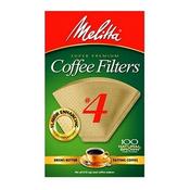 Melitta Super Premium Coffee Filters #4 Natural Brown - 100 CT