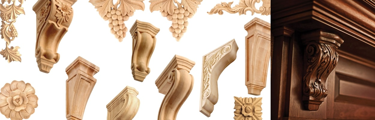 Corbels, Scrolls & Appliques from GlideRite Hardware