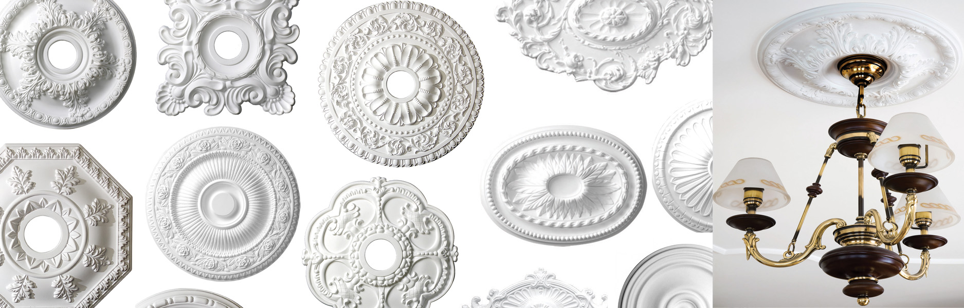 Polyurethane Ceiling & Wall Medallions from GlideRite Hardware