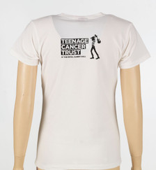 White t-shirt - Ladies fit, back