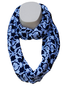 Infinity Scarf in Natty Nautical Rope Print