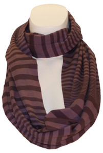 Rich chocolate tones make this scarf delicious!