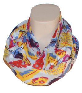 Infinity Scarf in Fluttering Feathers