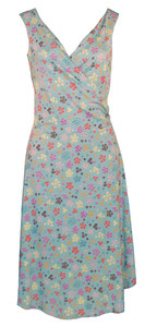 Sleeveless Surplice Dress in Pretty Daisy Patch