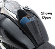 Studded Gas Tank Pouch Bib for Harley Sportster 2003-Later Motorcycles with 3.2 & 3.3 Gallon Gas Tanks