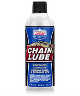 Lucas Oil Formulated with unique additive that penetrates deeply into the pins and bushings of the chain     Provides excellent rust and corrosion protection as well as outstanding water resistance     Will not sling off during normal use     Can be used on all types of chain     Sprays in all directions, even upside down     Unique foaming property