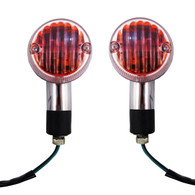 Looking to replace your turn signals? Get a pair of these chrome, round motorcycle turn signals and you'll be glad you did so.  They are designed to be used as turn signal lights and running lights at the same time, so you no longer have to sacrifice one for the other.