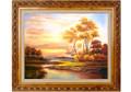 油画-夕阳