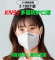 KN95多层防护口罩2-100个装