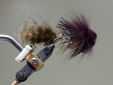 Dark Emulator--All purpose goby/sculpin/crayfish imitation that works well in any speed water while being fished at any speed.